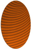 rug #942797 | oval red-orange circles rug