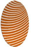 rug #942801 | oval red-orange circles rug