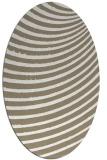 rug #942825 | oval white stripes rug