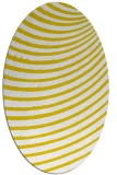 rug #942841 | oval yellow retro rug