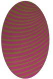 rug #942861 | oval pink retro rug