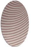 rug #942873 | oval pink popular rug