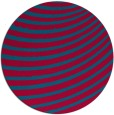 rug #943369 | round blue-green graphic rug