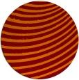 rug #943445 | round orange stripes rug