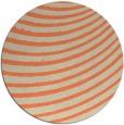 rug #943453 | round orange stripes rug