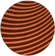 rug #943457 | round red-orange abstract rug