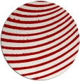 rug #943493 | round red stripes rug
