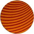 rug #943497 | round orange retro rug