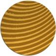 rug #943565 | round light-orange stripes rug