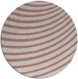 rug #943593 | round pink retro rug