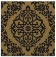 rug #943993 | square mid-brown damask rug