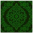 rug #944025 | square green damask rug