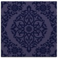 rug #944053 | square blue-violet damask rug