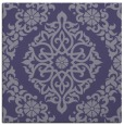 rug #944057 | square blue-violet damask rug
