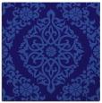 rug #944069 | square blue-violet damask rug