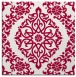 rug #944085 | square red traditional rug