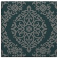 rug #944097 | square blue-green damask rug