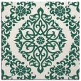 rug #944101 | square blue-green damask rug