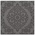 rug #944113 | square mid-brown damask rug