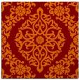 rug #944165   square red-orange damask rug
