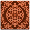 rug #944177 | square red-orange traditional rug