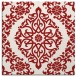 rug #944221 | square red traditional rug