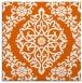 rug #944241 | square red-orange damask rug