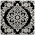 rug #944245 | square white geometry rug