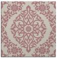 rug #944313 | square pink damask rug