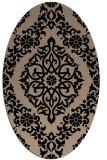 rug #944337   oval beige traditional rug