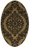 rug #944353 | oval brown damask rug