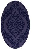 rug #944413 | oval blue-violet traditional rug