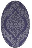 rug #944417   oval blue-violet damask rug
