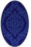 rug #944429   oval blue-violet damask rug