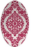 rug #944445 | oval red traditional rug