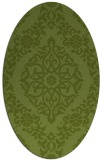 rug #944453 | oval green damask rug
