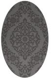 rug #944473   oval brown damask rug