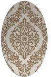 rug #944477 | oval beige traditional rug
