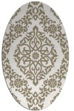 rug #944481 | oval white damask rug