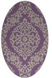 rug #944509 | oval purple damask rug