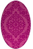 rug #944541   oval pink damask rug