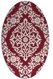 rug #944546 | oval damask rug