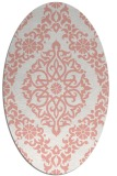 rug #944553 | oval white traditional rug