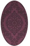 rug #944557   oval purple traditional rug