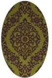 rug #944561 | oval purple damask rug
