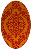 rug #944577 | oval red damask rug