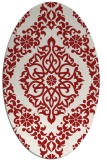rug #944581 | oval red traditional rug