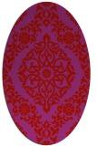 rug #944585 | oval traditional rug