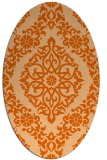 rug #944593 | oval red-orange geometry rug