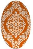 rug #944601 | oval damask rug